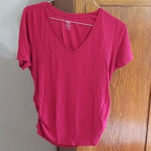 Pink old navy maternity t shirt